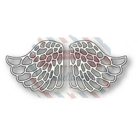 Fustella metallica Memory Box Lacy Angel Wings