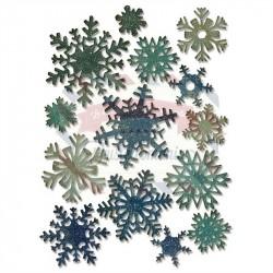 Fustella Sizzix Thinlits Tim Holtz Fiocchi di neve di carta