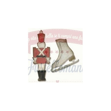 Fustella Sizzix Tim Holtz Movers & Shapers Mini Toy Soldier & Ice Skate