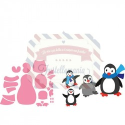 Fustella metallica Marianne Design Collectables Eline's Penguin