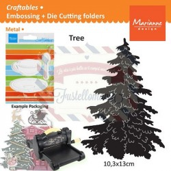 Fustella metallica Marianne Design Craftables Christmas Tree