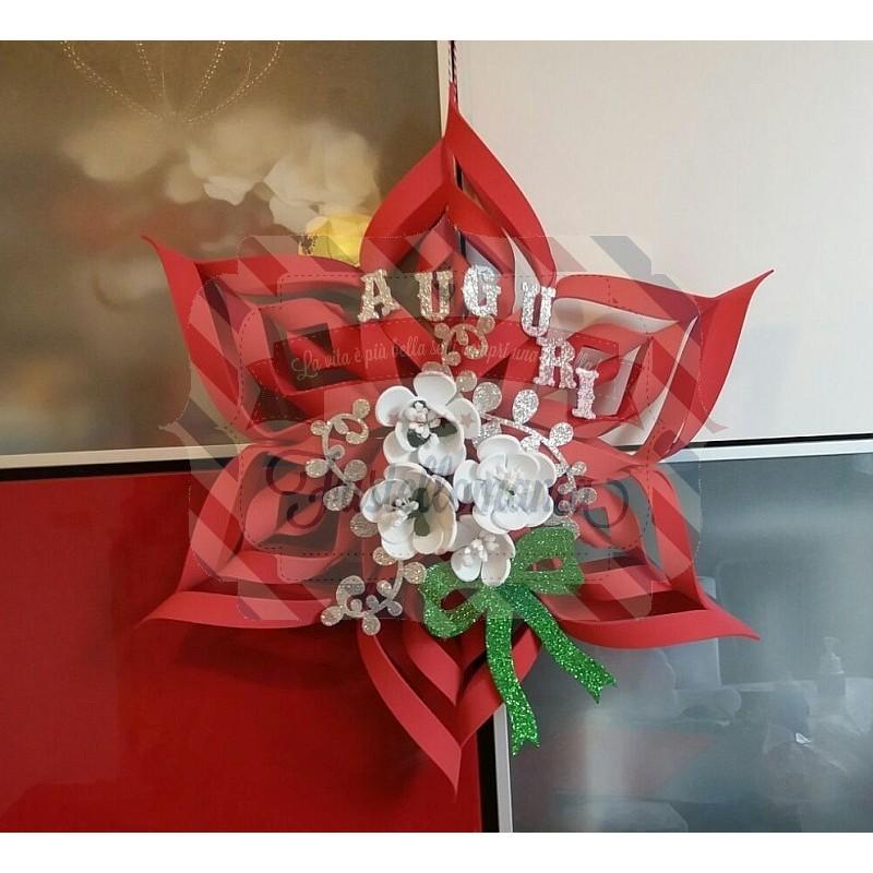 Fustella A4 Stella Di Natale E Fiori