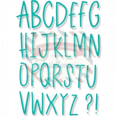 Fustella Sizzix Thinlits Alfabeto Delicate Letters