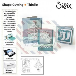 Fustella Sizzix Thinlits Christmas Trims