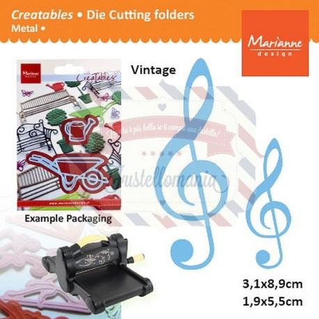Fustella metallica Marianne Design Creatables Music Key