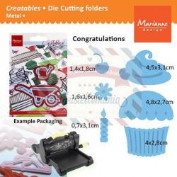 Fustella metallica Marianne Design Creatables Cupcake