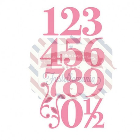 Fustella metallica Marianne Design Collectables Eline's elegant numbers