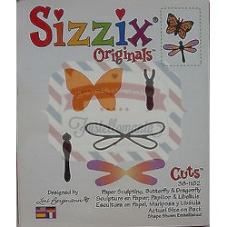 Fustella Sizzix Originals Paper Sculpting Butterfly & Dragonfly