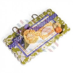 Fustella Sizzix BIGz XL Album Scallop Rectangle 2