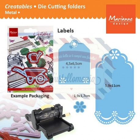 Fustella metallica Marianne Design Creatables Labels