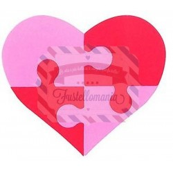 Fustella Sizzix Bigz Heart Puzzle