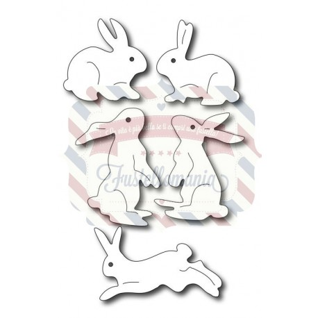 Fustella metallica Assorted bunnies