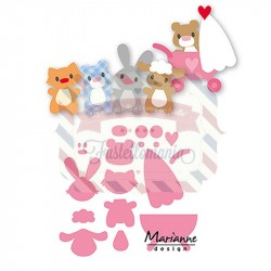 Fustella metallica Marianne Design Collectables Eline's Baby Animals