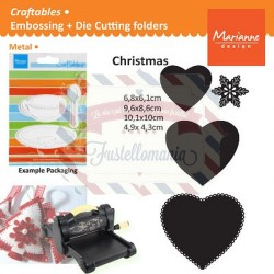 Fustella metallica Marianne Design Craftables Heart Shapes