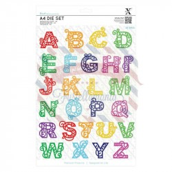 Fustella metallica Xcut Filigree Alphabet A4