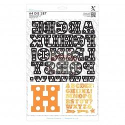 Fustella metallica Xcut A4 Marquee Alphabet