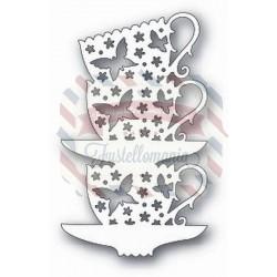 Fustella metallica Tutti Designs Stacked Butterfly Cups