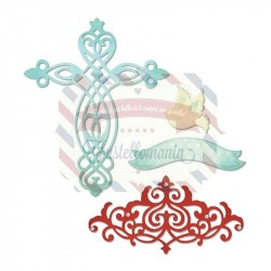 Fustella Sizzix Thinlits Cross Dove Banner & Border