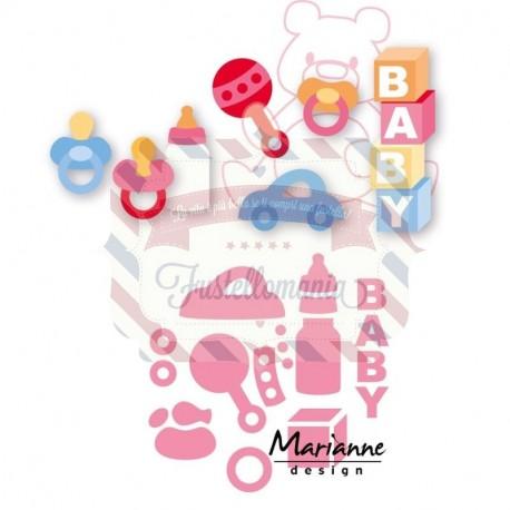 Fustella metallica Marianne Design Collectables Eline's Baby Essentials