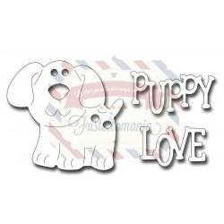 Fustella metallica Puppy Love