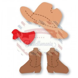 Fustella Sizzix Originals Yellow Doll Cowboy Accessories