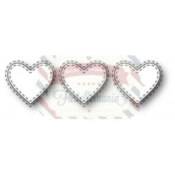Fustella metallica Memory Box Triple Stitched Heart