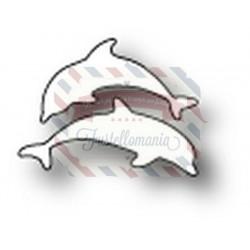 Fustella metallica Memory Box Tiny Dolphins