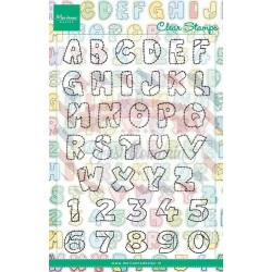 Timbri Marianne Design Clear Stamps Patchwork Alphabet