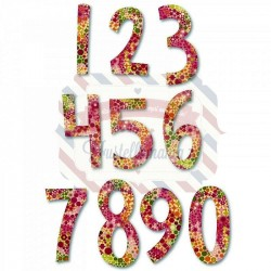 Fustella Sizzix Fresh Blossoms Numbers