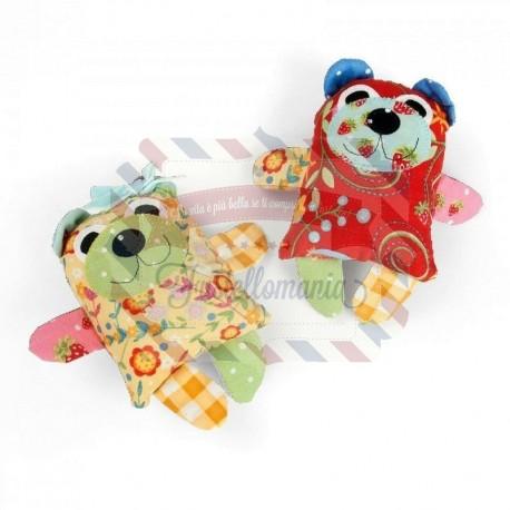 Fustella Sizzix Bigz L Maggie & Quincy Small Bear