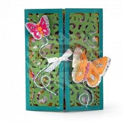 Fustella Sizzix Thinlits Gatefold Card Butterflies