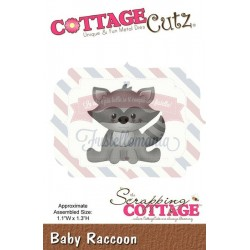 Fustella metallica Cottage Cutz Baby Raccoon