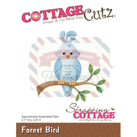 Fustella metallica Cottage Cutz Forest Bird