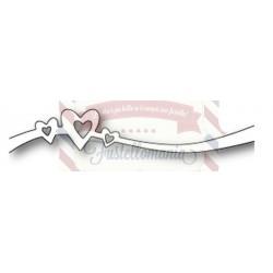 Fustella metallica PoppyStamps Heart Sprinkle Sash