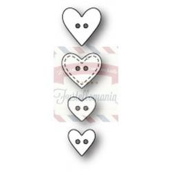 Fustella metallica PoppyStamps Heart Buttons