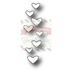 Fustella metallica PoppyStamps Candy Hearts