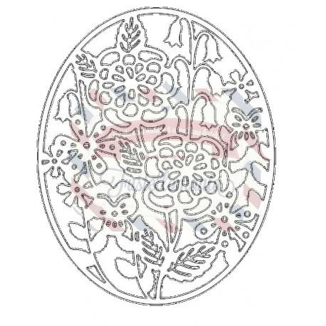 Fustella metallica Tutti Designs Cheerful Garden Frame