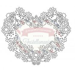 Fustella metallica Tutti Designs Flowery Heart