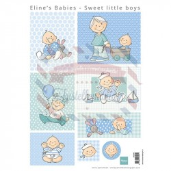 Carta da scrapbooking Marianne Design Eline's Baby Sweet little boys