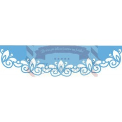 Fustella metallica Marianne Design Creatables curved border