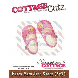 Fustella metallica Cottage Cutz Fancy Mary Jane Shoes