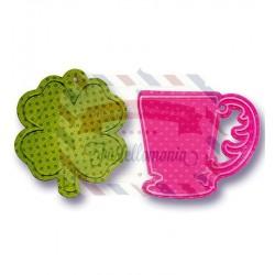 Fustella Sizzix Bigz Cup & Clover Tags