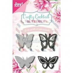 Fustella metallica e timbro Joy! Crafts Butterfly