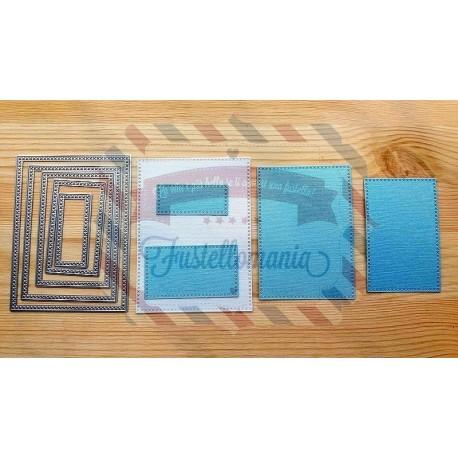 Fustella metallica Rettangoli decorativi portafoto