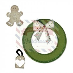 Fustella Sizzix Bigz Wreath & Gingerbread Man