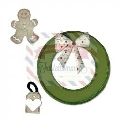 Fustella Sizzix Bigz Wreath & Gingerbread Man