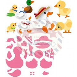 Fustella metallica Marianne Design Collectables Eline's Duck Family