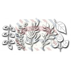 Fustella metallica Assorted Foliage