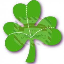 Fustella Sizzix Originals Green Shamrock Trifoglio