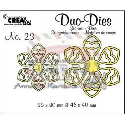Fustella metallica Crealies Duo Dies 23 Flower 14